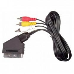 Cablu scart la 3RCA cu intr. 1.5m