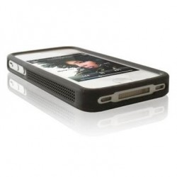 Husa silicon bumper iPhone 4G/4S neagra