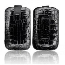 Husa Slim Croco neagra iPhone 3GS/4G/4S/Sam. i900 Omnia