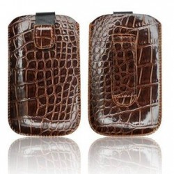 Husa Slim Croco maro iPhone 3GS/4G/4S/Sam. i900 Omnia