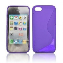 Husa silicon BackCase S-line Apple iPhone 5 mov