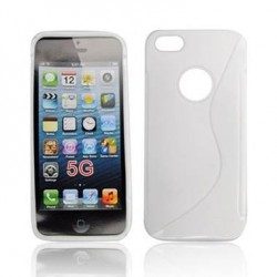Husa silicon BackCase S-line Apple iPhone 5 alba