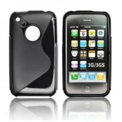 Husa silicon BackCase S-line Apple iPhone 3S neagra