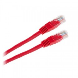 Cablu UTP CCA cu mufe 1m rosu