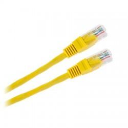 Cablu UTP CCA cu mufe 1m galben