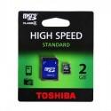 MicroSDHC 2Gb Toshiba cu adaptor