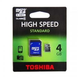 MicroSDHC 4Gb Toshiba cu adaptor