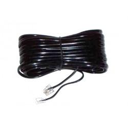 Cablu telefon 10m cu mufe negru