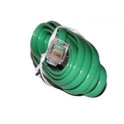 Cablu telefon cu mufe verde