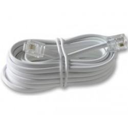 Cablu telefon 5m cu mufe alb