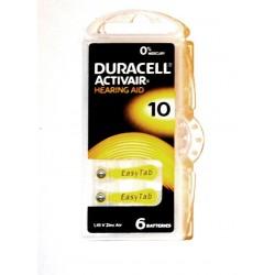 Set 6 baterii auditive duracell ZA10