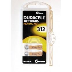 Set 6 baterii auditive duracell ZA312