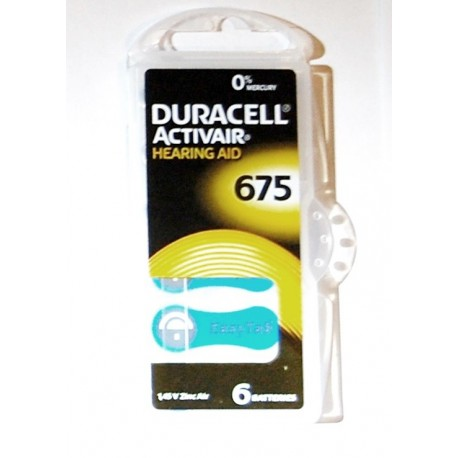 Set 6 baterii auditive duracell ZA675
