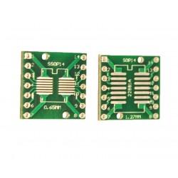Adaptor SSOP14, SOP14 PCB dublu placat