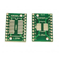 Adaptor SSOP20, SOP20 PCB dublu placat