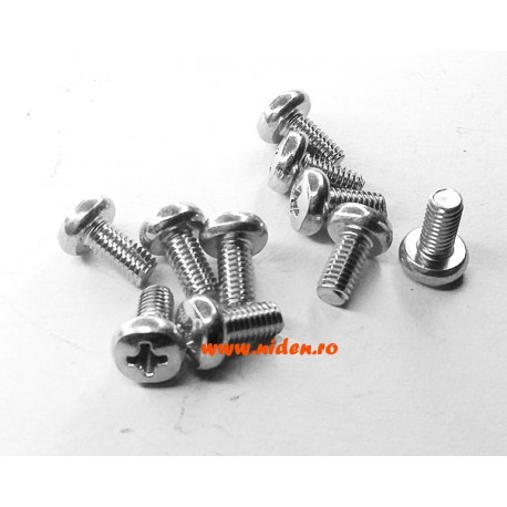 Surub M3X6mm cap rotund set 10buc.