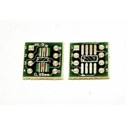 Adaptor SSOP8, SOP8 PCB dublu placat