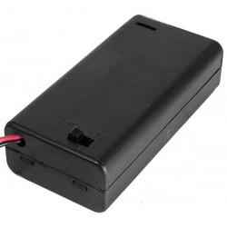 Suport baterii 2xR6 cu intrerupator