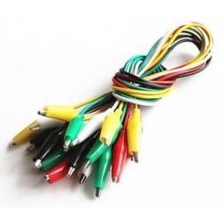 Set 20 cabluri cu cleme crocodil