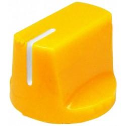 Buton plastic 14x19mm galben