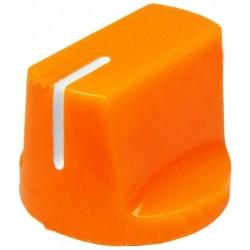Buton plastic 14x19mm portocaliu