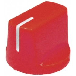 Buton plastic 14x19mm rosu