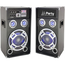 Set 2 boxe karaoke 20cm USB/SD/Bluetooth 300W