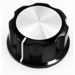 Buton plastic negru/argintiu 27mm