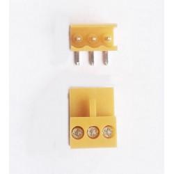 Set 2 conectori PCB 3 pini 90 grade