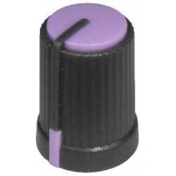 Buton plastic negru / mov