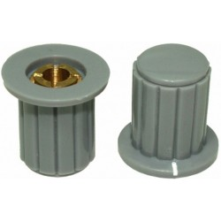Buton plastic gri pentru ax 4mm