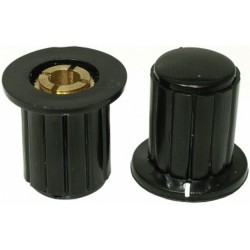 Buton plastic negru pentru ax 4mm