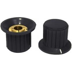 Buton plastic negru19x25mm