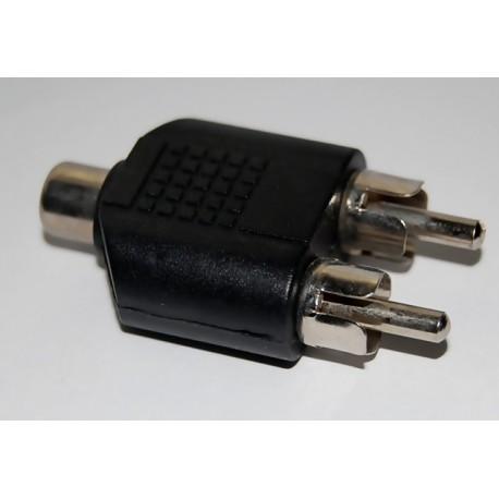adaptor RCA mama la 2 RCA tata