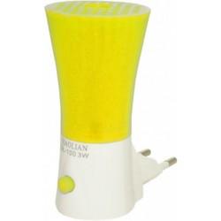 Lampa de veghe 3 leduri galben cu intr.