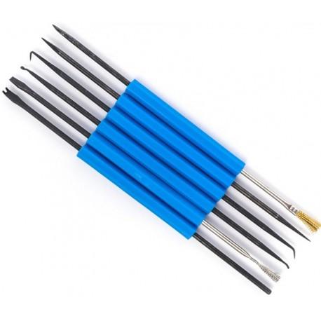 Set 6 unelte razuitoare si perii 180mm