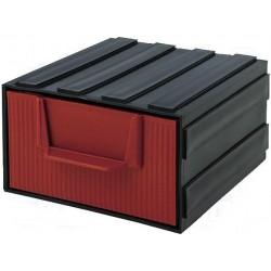 Modul sertar 105x120x60mm negru / rosu