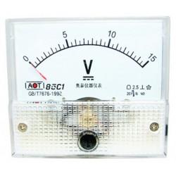 Voltmetru analogic 15V curent continuu