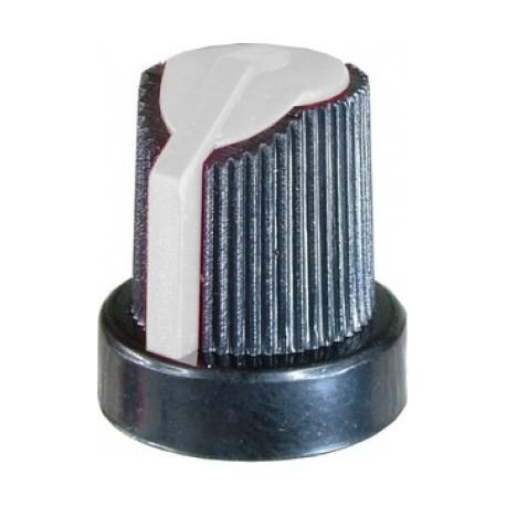 Buton potentiometru plastic negru/galben