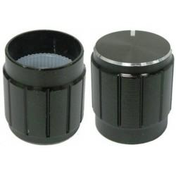Buton metalic 15mm negru
