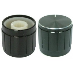 Buton metalic 19mm negru