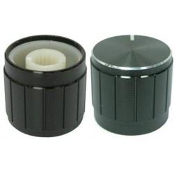 Buton metalic 21mm negru