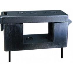 Suport siguranta cablaj 5X20mm negru