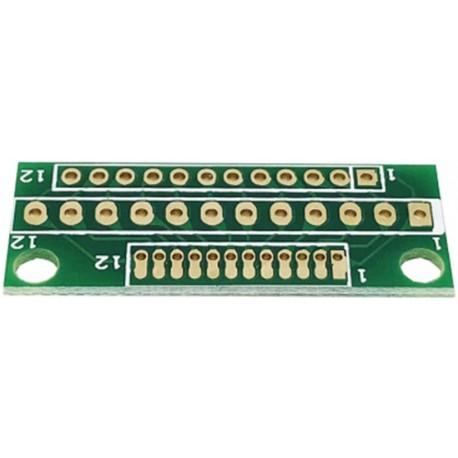 Adaptor PCB XL 2.54-1.27-2 dublu placat