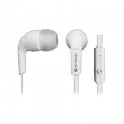 Casti stereo cu microfon 1.2m Titanum Esperanza albe