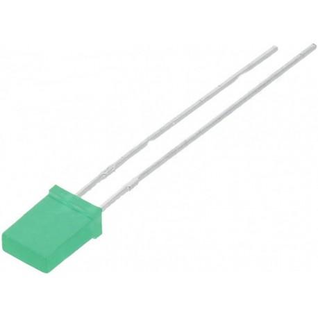 Led dreptunghiular 5mm verde