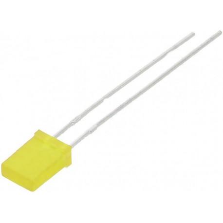 Led dreptunghiular 5mm galben