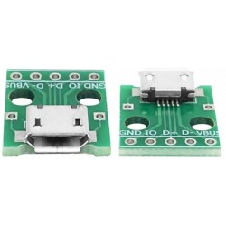 Mufa micro USB mama pe cablaj imprimat