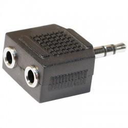 Adaptor jack 3.5mm la 2 jack 3.5mm