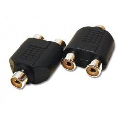 Adaptor RCA mama la 2 RCA mama